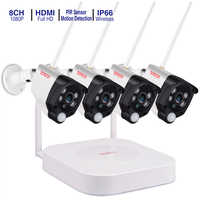 Tonton 8CH Wireless CCTV System 1080P 2MP NVR IP IR-CUT Outdoor CCTV Camera IP Security System Audio Record Video Surveillance