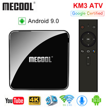 MECOOL KM3 ATV Androidtv 9.0 Google Certified Android 9.0 TV Box 4GB 64GB Amlogic S905X2 4K 2.4G 5G Dual Wifi BT4.0 Set Top Box