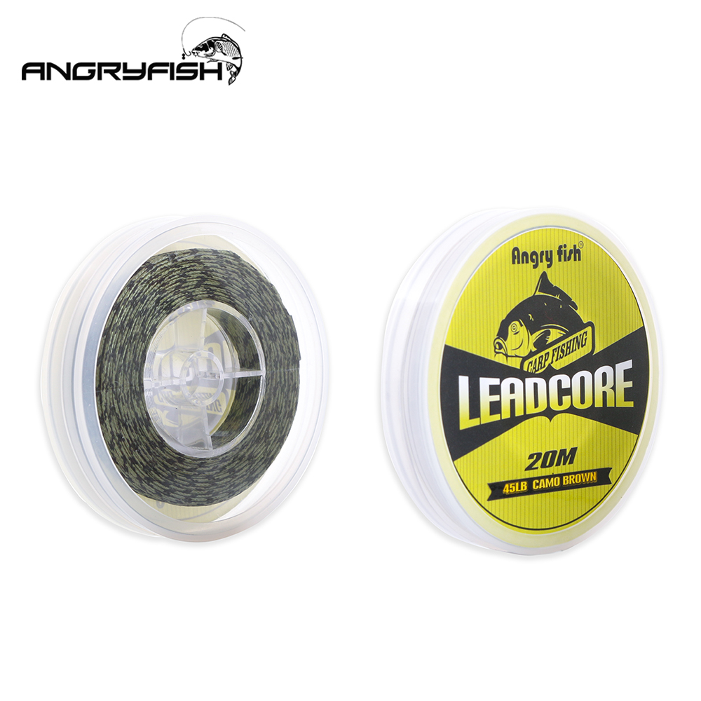 Angryfish Lead Core Carp Fishing Line 25Lbs 35 Lbs 45 Lbs 60Lbs 20Meters for Carp Rig მიღების Sinking Braided Line