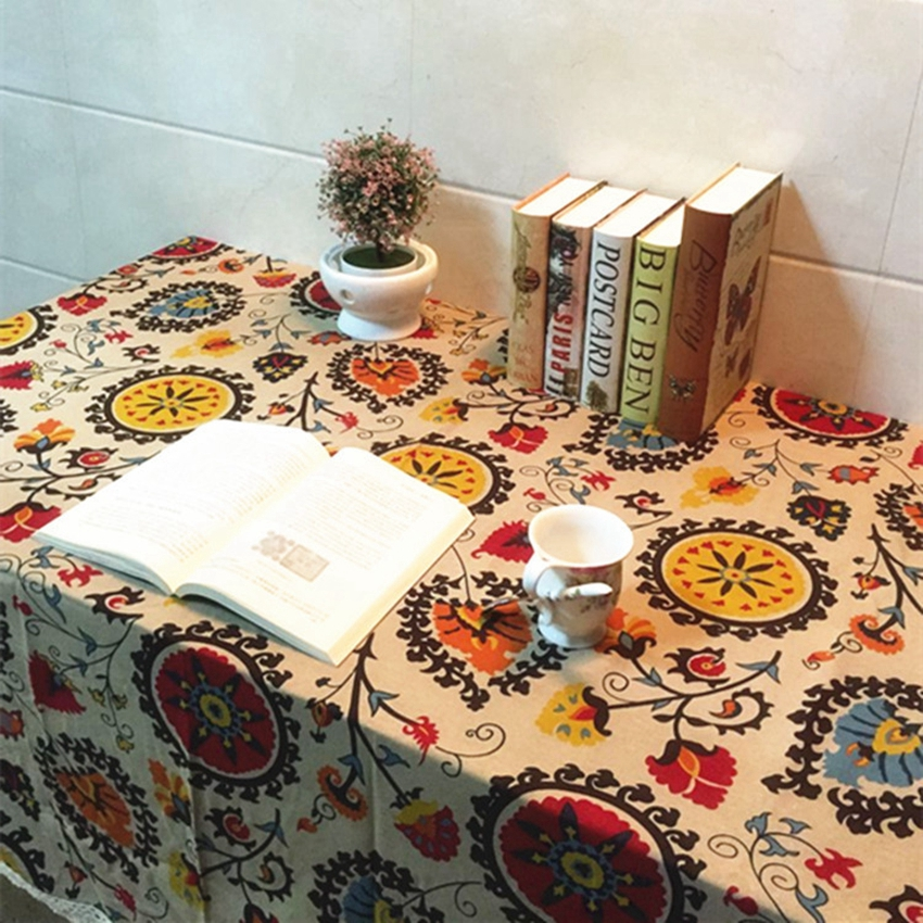 Cotton Linen Tablecloths Decorative Home Decor Table Cloth High Quality  Tablecloth Vintage Flower And Animal Pattern