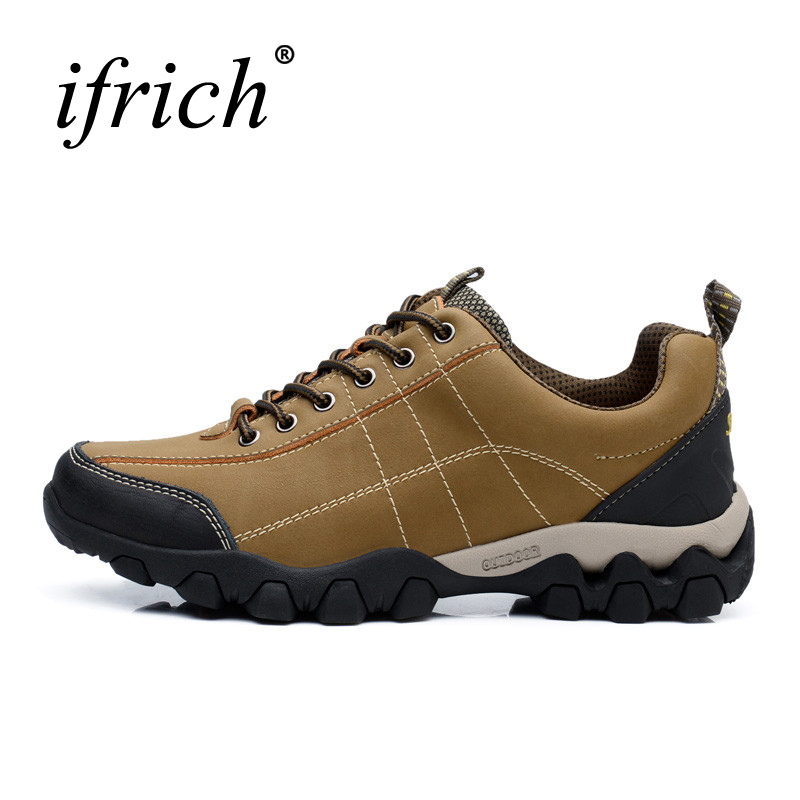 Hot Sell Brand Trekking Shoes Men Outdoor Waterproof Mountain Climbing Sneakers Leather Hiking Boots Autumn Winter Trainers Men 2017 new autumn winter trekking boots men size 38 45 climbing shoes fur warm hiking sneakers blue black men mountain boots