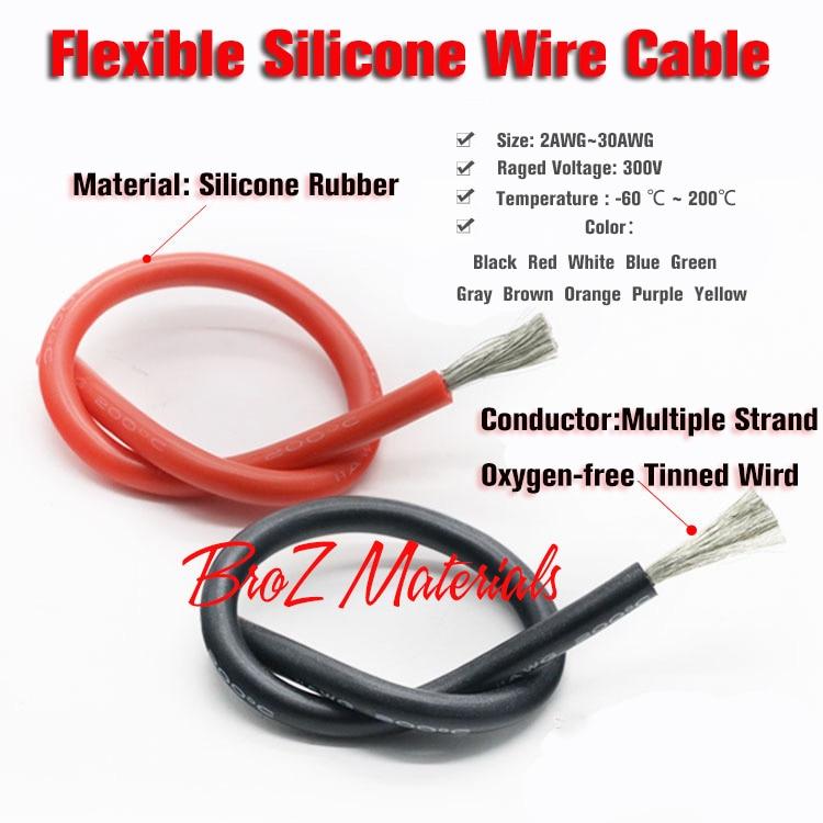 WunderschöNen 6awg Flexible Silikon Draht Kabel Weiche Hohe Temperatur Verzinnten Kupfer Ul Vw-1 Drähte Und Kabel