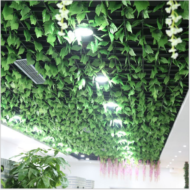 Wholesale 12pcs like real artificial plastic grape leaf for Artificial grape vines decoration