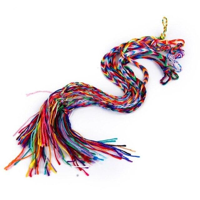 120 sztuk/partia kolorowe pleciony tkane bransoletki przyjaźni szerokości Retro Handmade Nepal genewa brazylijski wielokolorowy sznurek przewód