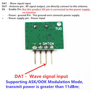 Image 4 - 433 Mhz Superheterodyne RF Receiver and Transmitter Module ASK kits with antenna For Arduino uno Diy kit 433Mhz Remote controls