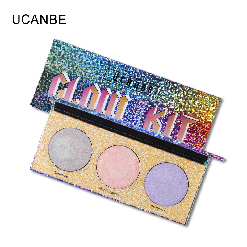 US $3 66 26% OFF|UCANBE Trio Duo Chrome Eyeshadow Palette Shimmer Metallic  Laser Chameleon Pigment Pressed Eyeshadow Makeup Holographic Eyeshadow-in