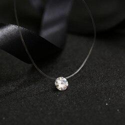 FYM 9 видов цветов, ослепительное циркониевое ожерелье, невидимая прозрачная леска, простая подвеска, ожерелье, ювелирные изделия для женщин, ...