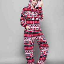 2069003f8bd6 Kigurumi Winter Red Bird Onesies Cosplaly Costume Snowflake Pajamas Cartoon  Pyjama Women Flannel Adult Hooded Animal