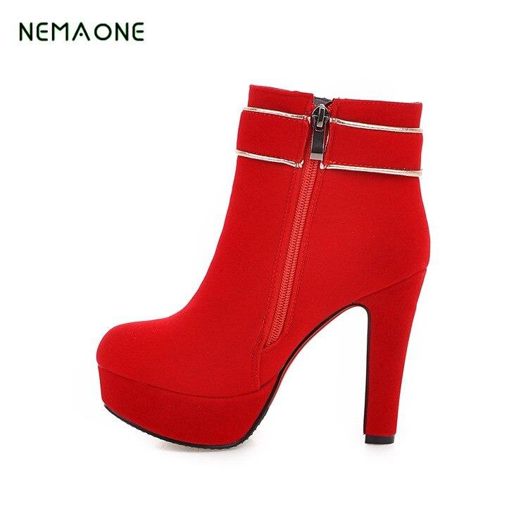 NEMAONE 2017 New Arrival Ankle font b Boots b font High Heel font b Women b
