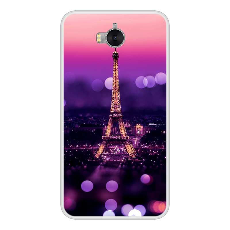 Phone Case For Huawei Y9 Y6 Y7 Prime 2018 Soft Silicone TPU Cute Cat Painted Back Cover For Huawei Y6 Y5 Y3 2017 II Pro Case