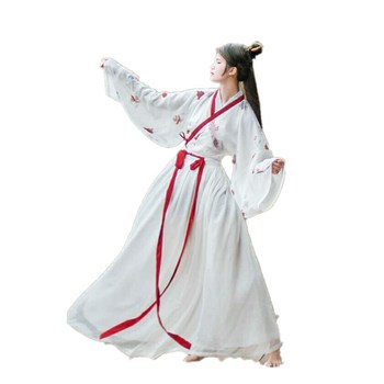 Chinese style Hanfu female costume traditional ethnic style embroidery photo stage performance set traditional style 100
