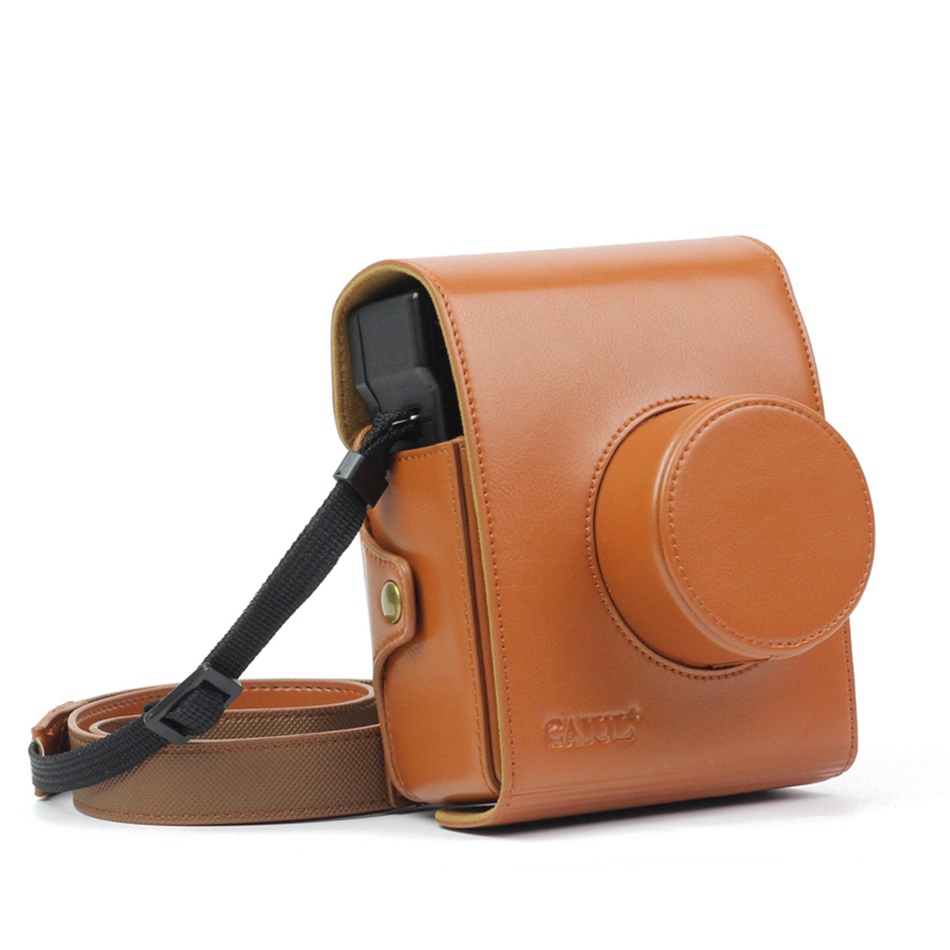 New Hard Case For Camera Lomo Instant Sanremo In Brown Color With Lomography Edition Bakeey Kamera Taschen Fllen Fr Polaroid Schutzhllen Mit Leder Material Schulter Tasche Fall