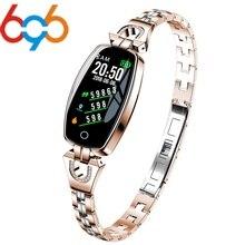 696, женские Смарт-часы H8, браслет, пульсометр, кровяное давление, часы, шагомер, водонепроницаемые, фитнес-трекер, браслет