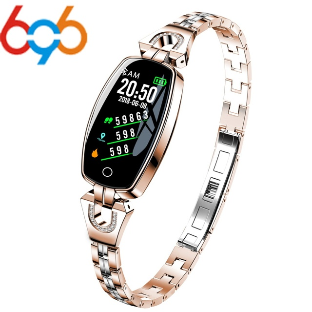 696 KW10 Fashion Smart Watch Women Lovely Bracelet Heart Rate Monitor Sleep Monitoring Smartwatch connect IOS Android PK S3 band 2