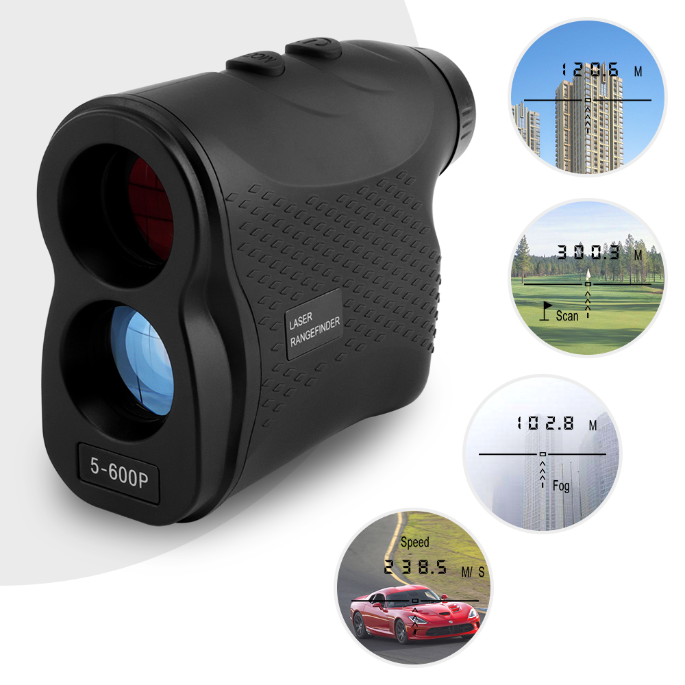 600M Laser Rangefinder Golf Hunting Measure Telescope Digital Monocular Laser Distance Meter Speed Tester Laser Range Finder hunting tactical golf distance meter laser range finder speed tester monocular 6x21 600m laser rangefinder