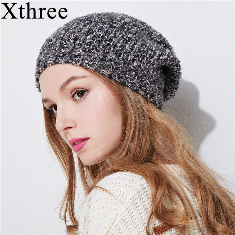Xthree cotton winter hat for women girl beanie hat Double-deck Knitted Hat Female spring Women Gravity Falls Cap