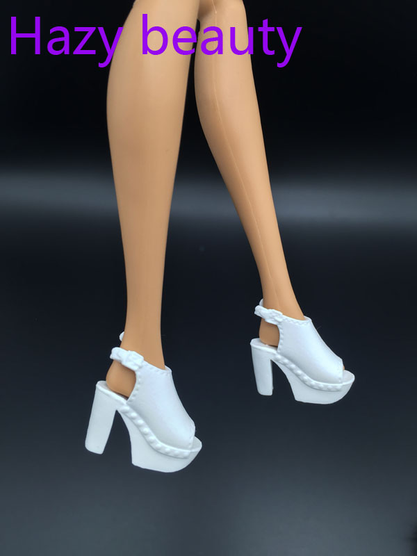 Doll White High Heels Shoes For BB Dolls BBI890
