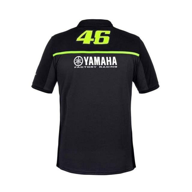 Valentino Rossi Yamaha Team Black Polo Collar T-Shirt