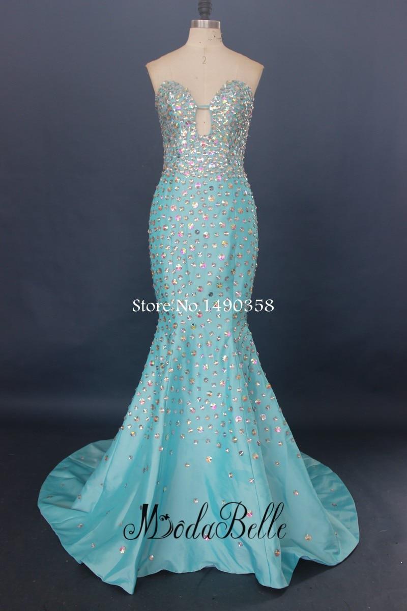 modabelle Sparkling Prom Dress With Rhinestones Mermaid Long ...