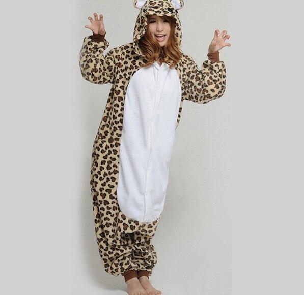 ᐂLeopardo del envío libre caliente pijamas onesie animal del dibujo ...