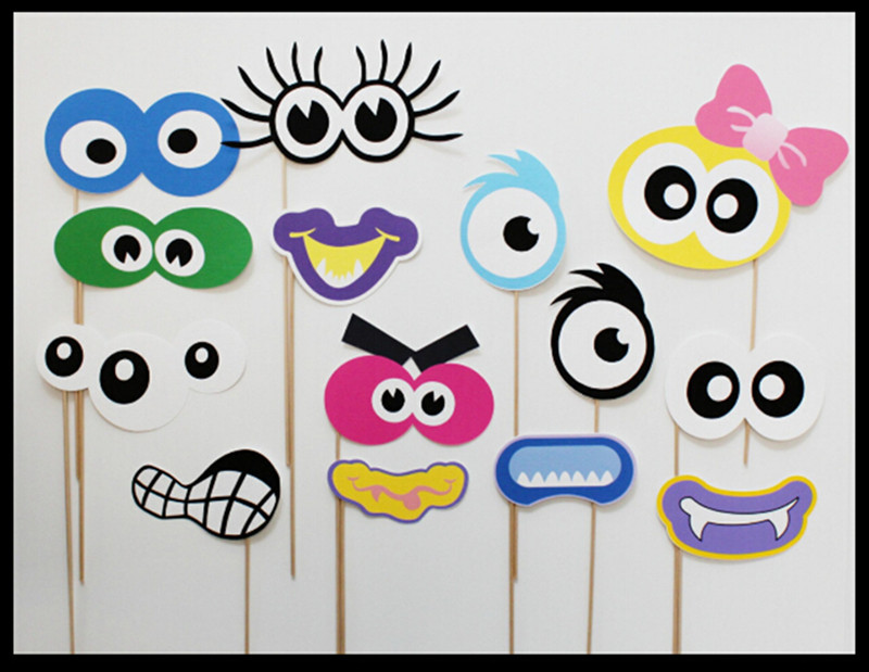 ᐂ14 unidades por juego niños encantadores Photo Booth props ...