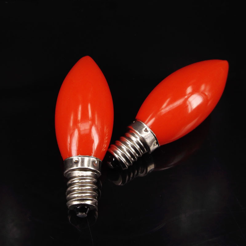 Red LED Candle Lamp E12 E14 220V Small Snails Candlestick ...
