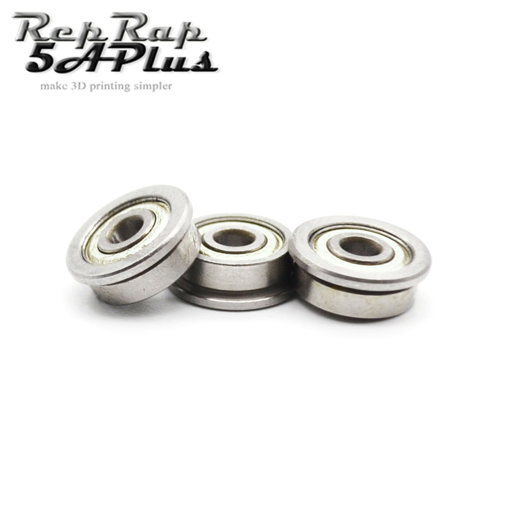 12 PCS/lot F623 ZZ Flange Bushing Ball Bearings F623ZZ 3 * 10 * 4 mm For 3D Printer Parts
