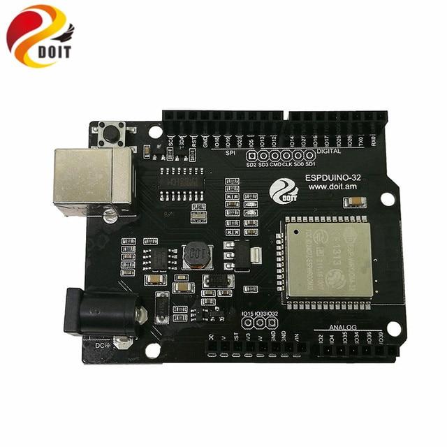 US $12 56 |DOIT Arduino IDE for ESP32 Module WiFi and Bluetooth Development  Board Ethernet Internet Wireless Transceiver Control Board-in Parts &