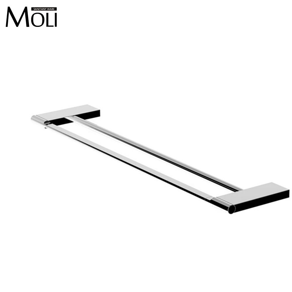 double towel bar in the bathroom square towel holder chrome bathroom accessories towel rackchina