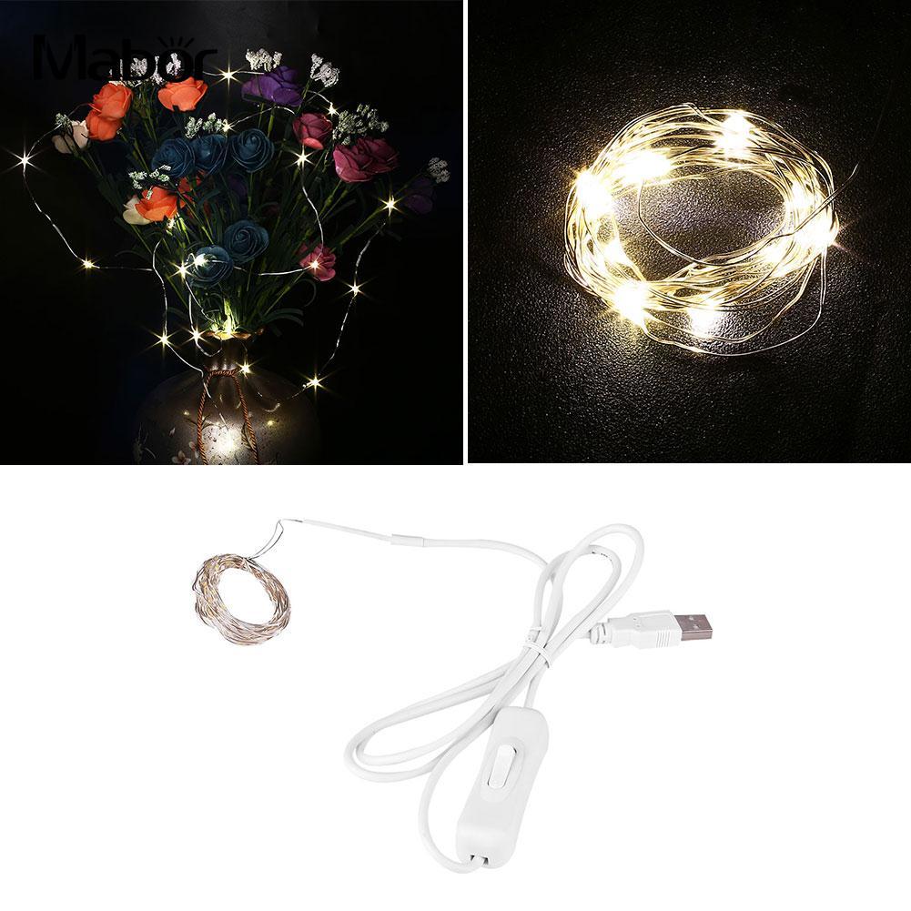 2M 20LED USB Light String Lighting Chains Yard Home Festival Decoration DC5V