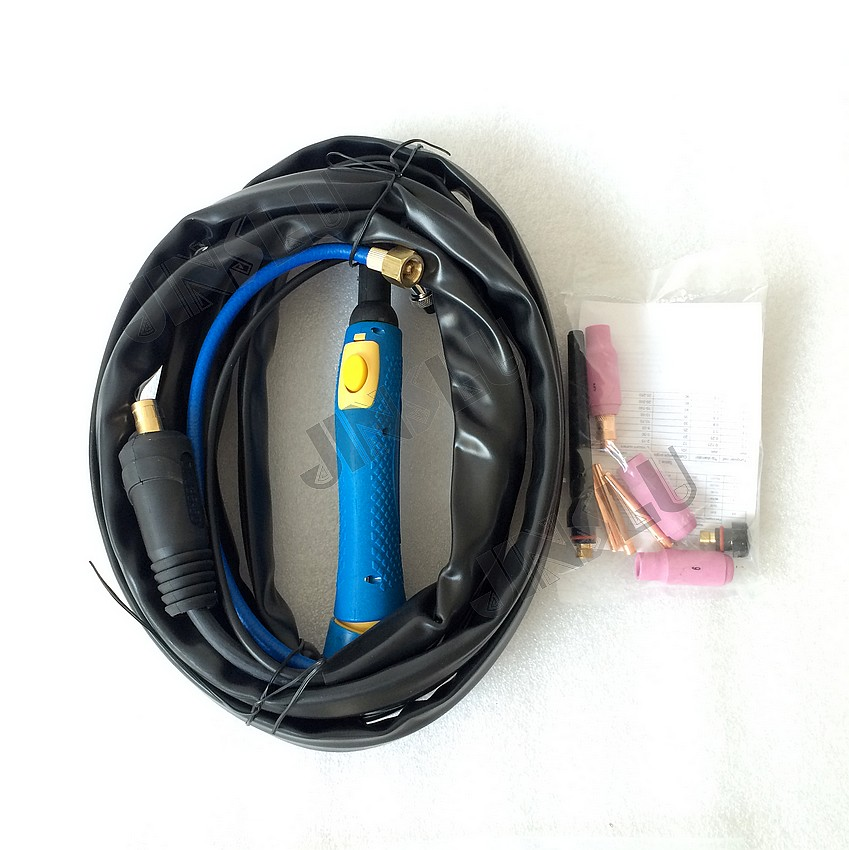 WP26 WP-26 Air Cooled Argon Tig Welding Torch 8M Gas And Cable Seperated wp 17v sr 17v tig welding torch complete 26feet 8meter soldering iron gas valve control air cooled 150amp