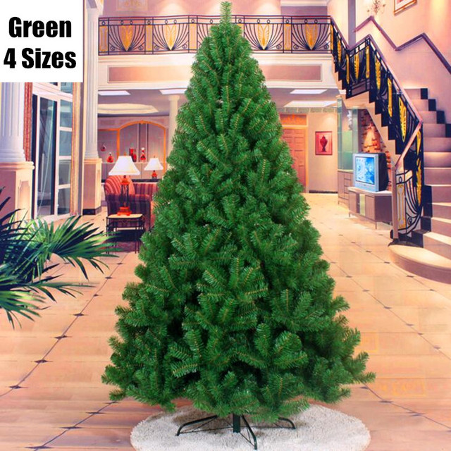 4 sizes new arrival green christmas tree iron feet pine tree placed in the desktop christmas