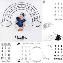 Новый ребенок ежемесячно одеяло-Ростомер Творческий шаблон фон для фото младенцев Детские Фото Опора
