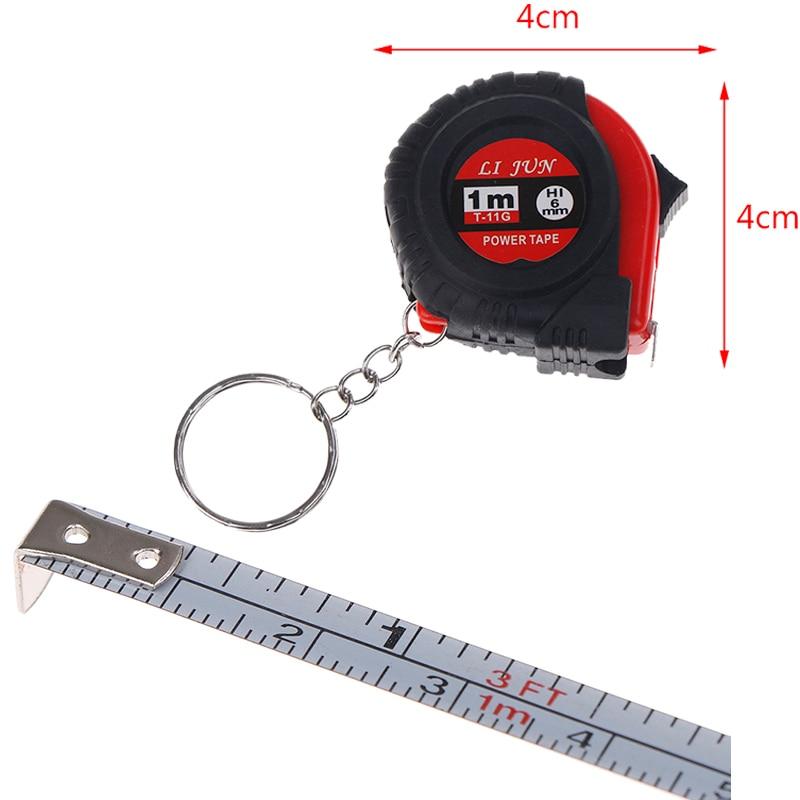 Portable Mini Retractable Tape Measure Ruler Pull Ruler 1M Keychain Retractable Ruler Heart-shaped Tape Measure
