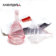 Feminine Hygiene Menstrual Cup Drain Valves Medical Silicone Coppetta Mestruale Coupe  Menstrual Reusable Moon Period Lady Cup women reusable menstrual cup soft medical silicone lady discharge valve menstrual cups leak safety month period cup vagina care