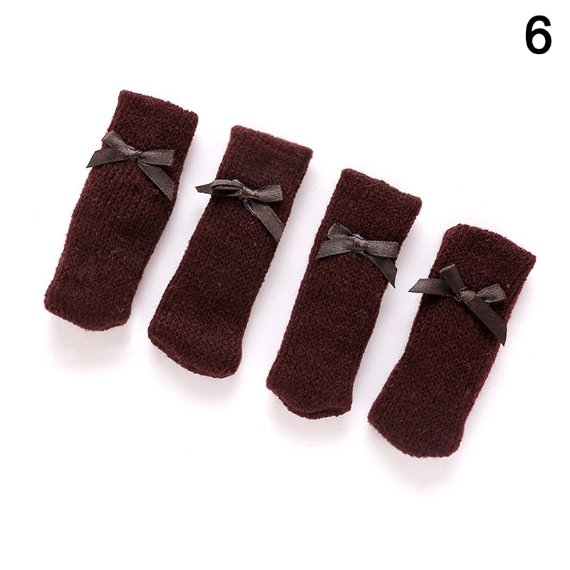 4 Pcs Knitting Table Chair Foot Leg Cover Sleeve Socks Floor Protector Home Dining Room J2Y4 Pcs Knitting Table Chair Foot Leg Cover Sleeve Socks Floor Protector Home Dining Room J2Y