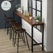 Луи Мода барные столы Американский твердый деревянный настенный СТОЛ простой кофе магазин современный простой