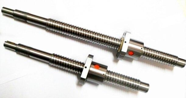 RM1605  Ball Screw SFU1605 L= 350mm Rolled 1605 Ballscrew with single Ballnut for CNC parts rm1605 ball screw 2pcs sfu1605 l 1500mm rolled 1605 ballscrew with 2pcs single ballnut for cnc parts
