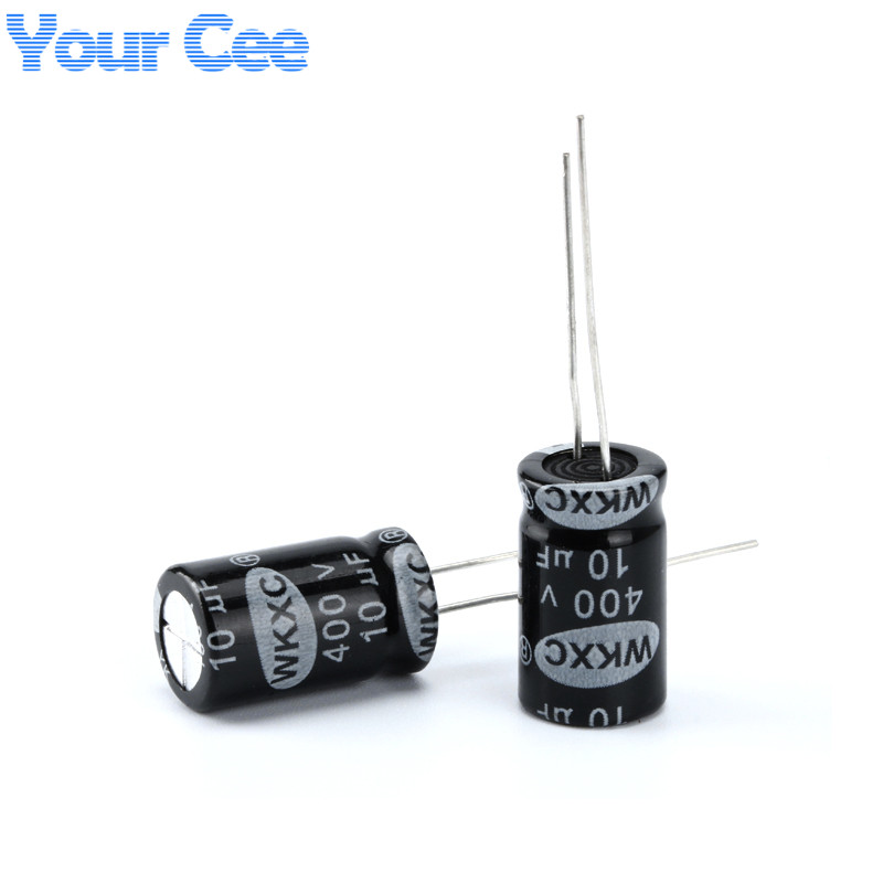 10 pcs Electrolytic Capacitors <font><b>400V</b></font> <font><b>10UF</b></font> 10X17MM Aluminum Electrolytic Capacitor image