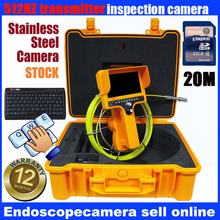 drain Endoscope Pipe Drain Pipe Inspection Digital camera System Gear Perform 7″ LCD Monitor 20M 12Pcs Leds Digital camera Night time Imaginative and prescient