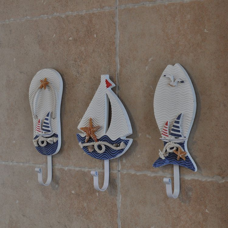 Mediterrane Accessoires mediterrane stijl badkamer handdoek opknoping haak slipper schip vis