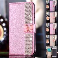 Luxury PU Leather Magnetic Flip Stand Bling Wallet Cover Case For IPhone 7 7 Plus 6S