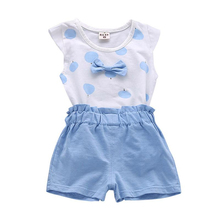 Kids Girls Clothing Sets Summer New Style  Baby Girls Clothes Short Sleeve T-Shirt+Pant Dress 2Pcs Children Clothes Suits humor bear girl dress tassel style girls clothes t shirt pants kids clothing set girls clothing sets baby kids clothes