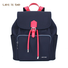 Let It Be oxford nylon waterproof  black backpack women backpack purse for girls & teenagers