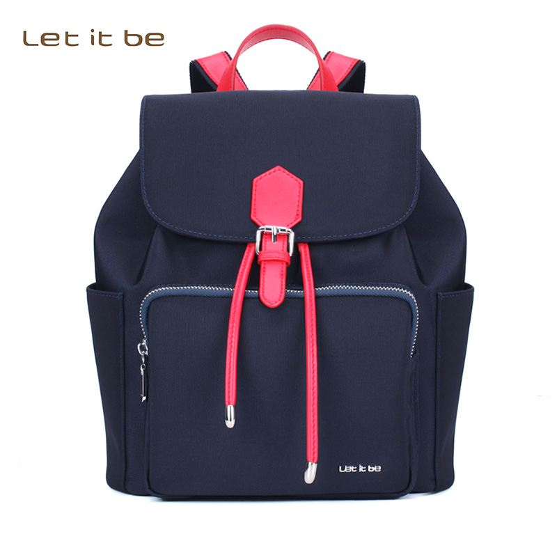Let It Be oxford nylon waterproof  black backpack women backpack purse for girls & teenagers rauf kuliyev let it be so a
