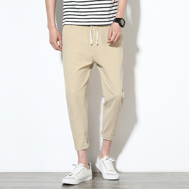 2020 Men Pure Cotton Sportswear Pants Casual Fitness 8 Color Workout Pants Skinny Sweatpants Trousers Big Size Jogger PantsM-5XL 3