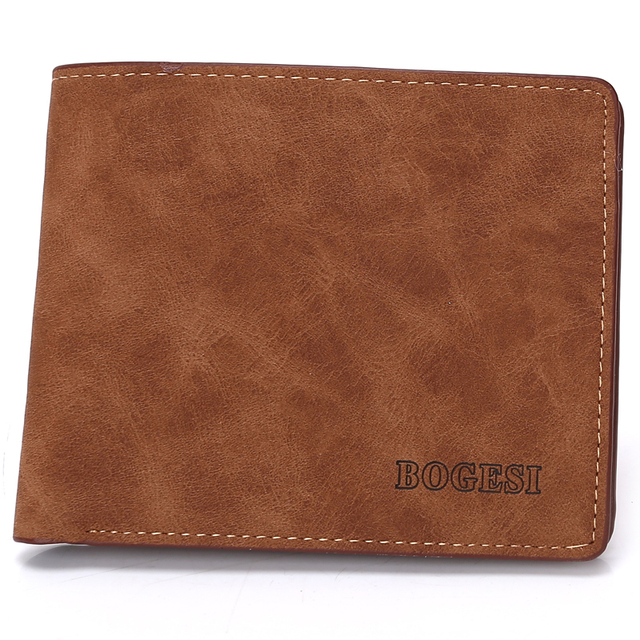 Men's Stylish Compact Leather Wallet without Pattern