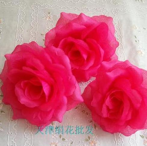 50 шт. искусственная Камелия Роза Пион Свадебные цветы декоративные искусственные цветы несколько цветов - Цвет: hot pink