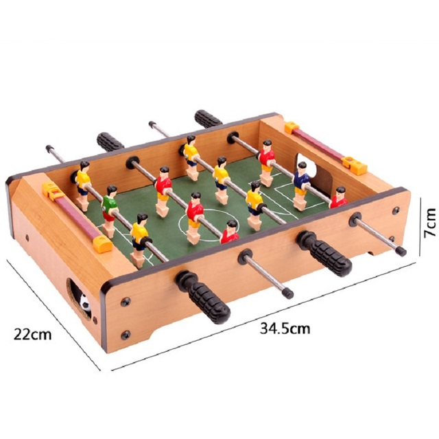Wooden Classic Tabletop Foosball Table  Portable Mini Table Football /  Soccer Game Set Balls Score