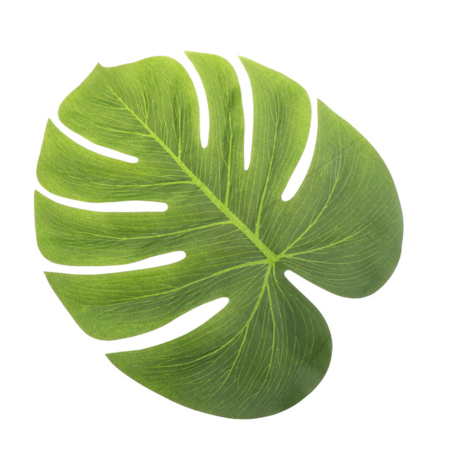 diy artificial tropical palm leaves simulation leaf for hawaiian